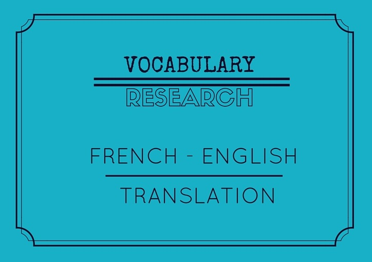 French English Vocabulary